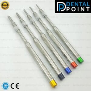 Dental Implant Sinus Lift Osteotomes Kit Straight Convex Tip Set of 5
